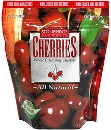 whole dried bing cherries whole dried cherries Stoneridge Orchards Nutrition info
