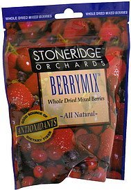whole dried mixed berries berrymix Stoneridge Orchards Nutrition info