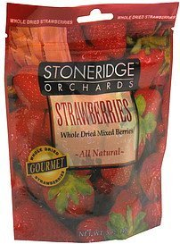 whole dried mixed berries strawberries Stoneridge Orchards Nutrition info