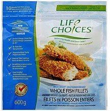 whole fish fillets wild caught, multigrain breaded Life Choice Nutrition info
