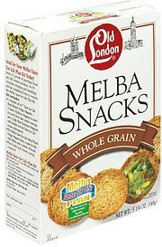whole grain Melba Snacks Nutrition info