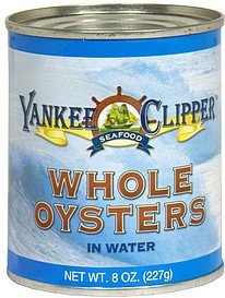 whole oysters in water Yankee Clipper Nutrition info