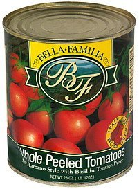 whole peeled tomatoes Bella Famiglia Nutrition info