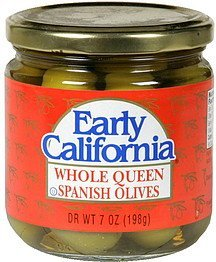 whole queen spanish olives Early California Nutrition info