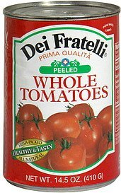 whole tomatoes peeled Dei Fratelli Nutrition info