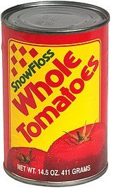 whole tomatoes SnowFloss Nutrition info