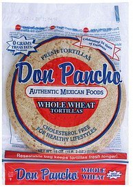 whole wheat tortillas Don Pancho Nutrition info