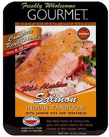 wild alaskan salmon indian tandoori Freshly Wholesome Gourmet Nutrition info