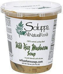 wild rice mushroom soup toasted almonds with red wine Soluppa Nutrition info