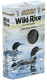 wild rice, premium quality, high fiber and protein Gibbs Nutrition info