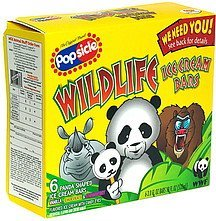 wildlife ice cream bars panda shaped Popsicle Nutrition info