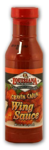 wing sauce cravin cajun Louisiana Nutrition info