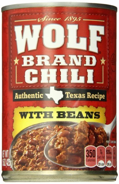 with beans Wolf Brand Chili Nutrition info