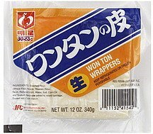 won ton wrappers Myojo Nutrition info