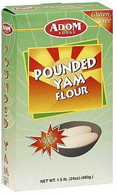 yam flour pounded Adom Foods Nutrition info