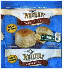 yeast rolls White Lily Nutrition info