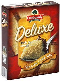 yellow cake mix Deluxe Nutrition info