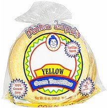 yellow corn tortillas Mama Lupe's Nutrition info
