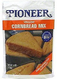 yellow cornbread mix Pioneer Nutrition info