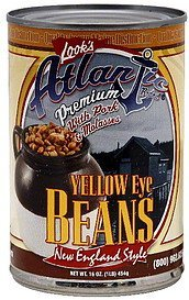 yellow eye beans with pork & molasses, new england style Atlantic Nutrition info