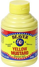 yellow mustard american style Beaver Nutrition info