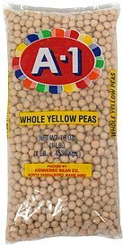 yellow peas whole A-1 Nutrition info