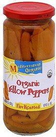 yellow peppers fire roasted Mediterranean Organic Nutrition info