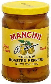 yellow peppers roasted Mancini Nutrition info