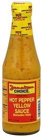 yellow sauce hot pepper, barbadian style Jamaican Choice Nutrition info