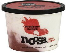 yoghurt strawberry rhubarb Noosa Nutrition info