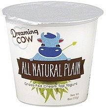 yogurt all natural plain Dreaming Cow Nutrition info