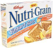 yogurt bars peaches & creme Nutri-Grain Nutrition info