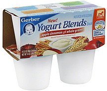 yogurt blends snack apple cinnamon with whole grains Gerber Nutrition info