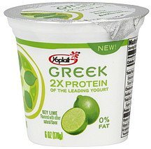 yogurt fat free, key lime Yoplait Nutrition info