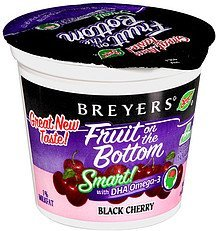yogurt fruit on the bottom black cherry Breyers Nutrition info