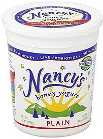 yogurt honey, plain Nancys Nutrition info