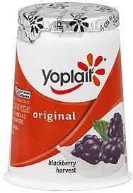 yogurt low fat, blackberry harvest Yoplait Nutrition info