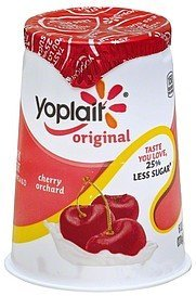 yogurt low fat, cherry orchard Yoplait Nutrition info