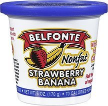 yogurt nonfat strawberry banana Belfonte Nutrition info