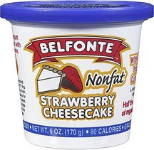 yogurt nonfat strawberry cheesecake Belfonte Nutrition info