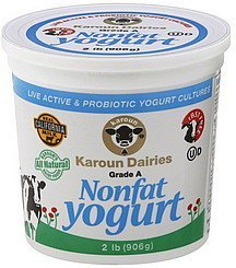 yogurt nonfat Karoun Nutrition info