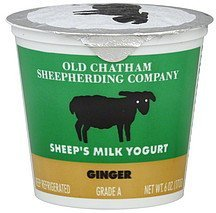 yogurt sheep's milk, ginger Old Chatham Sheepherding Company Nutrition info