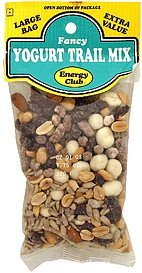 yogurt trail mix fancy Energy club Nutrition info