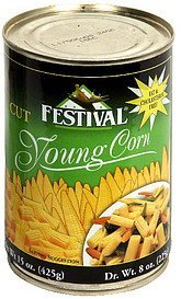 young corn cut Festival Nutrition info