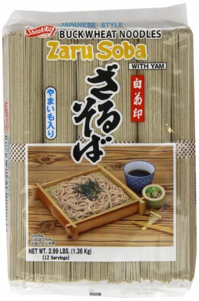 zaru soba buckwheat noodles with yam Shirakiku Nutrition info