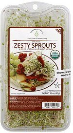 zesty sprouts organic Springwater Sprouts Nutrition info