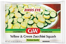 zucchini squash yellow & green C&W Nutrition info