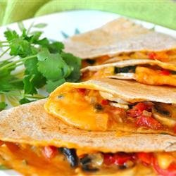 Farmer's Market Vegetarian Quesadillas