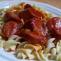 Sweet and Sour Kielbasa recipe