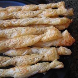 Crispy Cheese Twists recipe